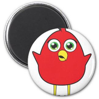 Red Bird 6 Cm Round Magnet