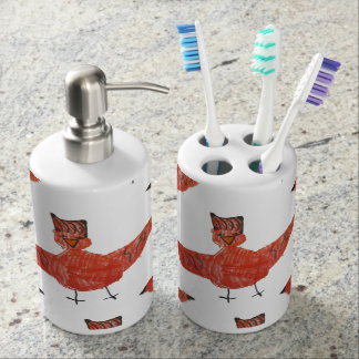 Red Bird Bathroom Accessories Toothbrush Holders