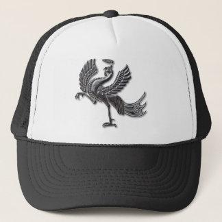 Red Bird blk glass Trucker Hat