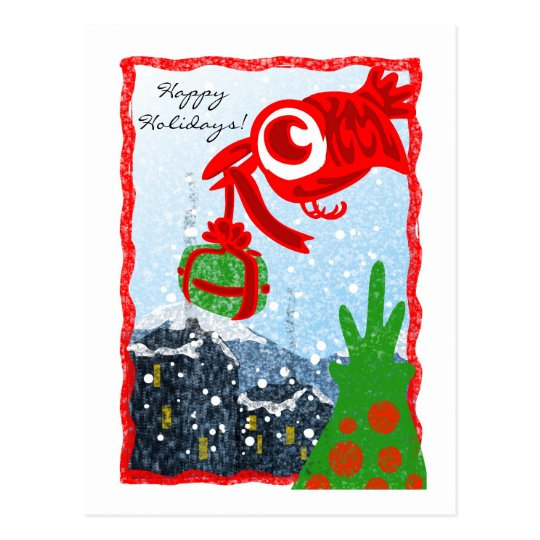 Red Bird Gift Postcard