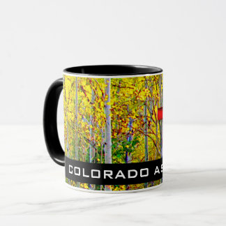 Red Bird House Hanging On A Colorado Aspen Tree Mug