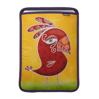 Red bird MacBook sleeve