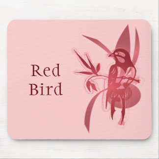 Red Bird Mouse Pad