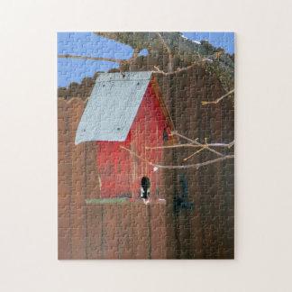 Red Birdhouse Puzzle