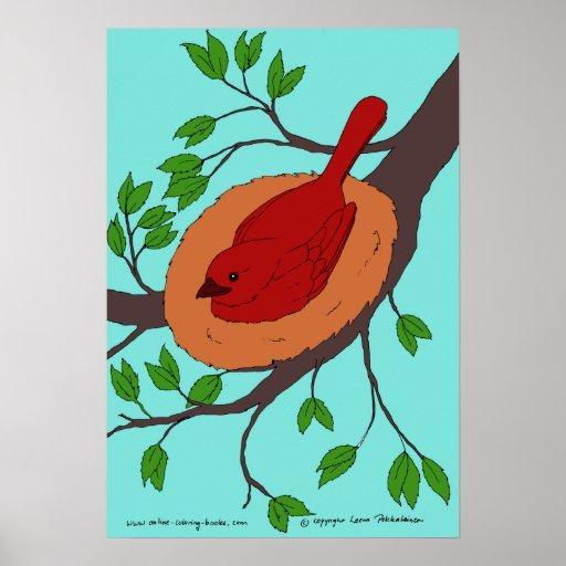 Red Bird's Nest Poster