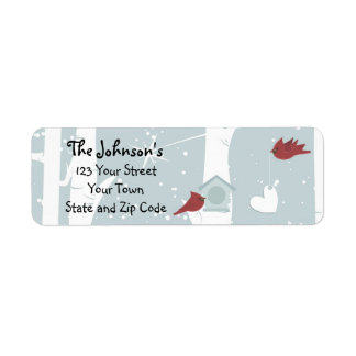 Red Bird's Special Delivery Return Address Labels