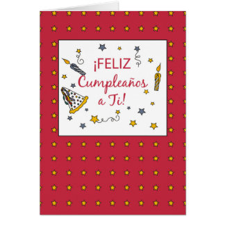 Red Birthday, Spanish Card
