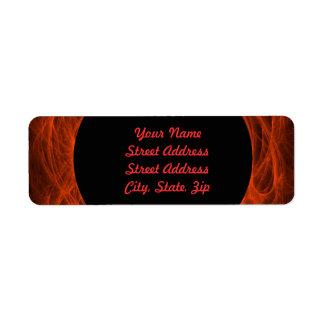 Red & Bl Fractal Background Return Address Sticker