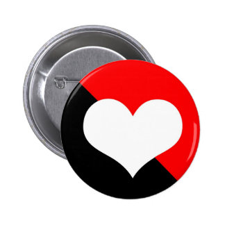 Red & Black 6 Cm Round Badge