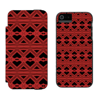 Red black abstract pattern incipio watson™ iPhone 5 wallet case