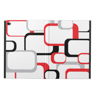 Red, Black and Gray Retro Squares