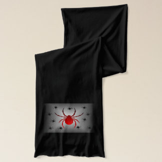 Red Black and Gray Spider Scarf