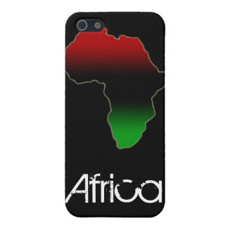 Red, Black and Green Africa Shape Case For The iPhone 5