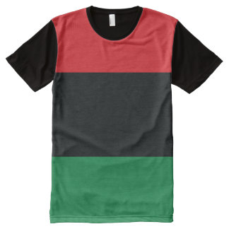 Red, Black and Green Flag All-Over Print T-Shirt
