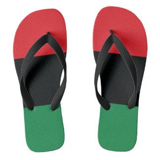 Red, Black and Green Flag Flip Flops