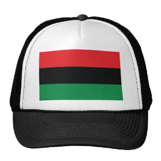 Red, Black and Green Flag Hat