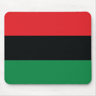 Red, Black and Green Flag Mouse Pad