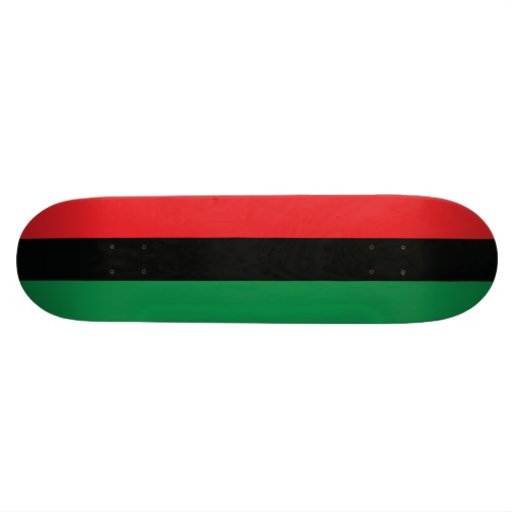 Red, Black and Green Flag Skateboard
