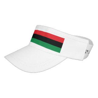 Red, Black and Green Flag Visor