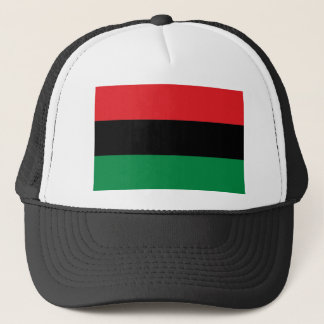 Red Black and Green Pan-African UNIA flag Trucker Hat