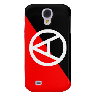 Red Black and White Anarchist Flag Anarchy Galaxy S4 Cases