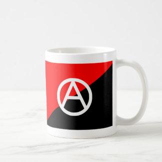 Red Black and White Anarchist Flag Anarchy Coffee Mug