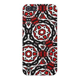 Red Black and White iPhone 5 Cover