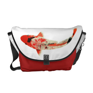 Red Black and White Koi Fish Commuter Bags