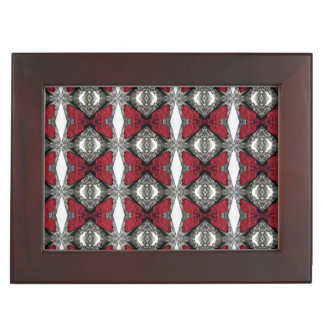 Red, Black and White Lens Pattern Keepsake Box