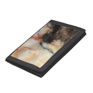 Red Black and White Mineral Texture Trifold Wallet