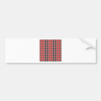 Red Black and White Pattern Bumper Stickers