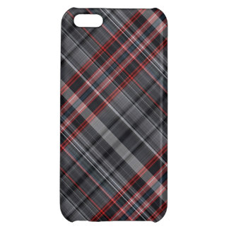 Red, black and white plaid cover for iPhone 5C