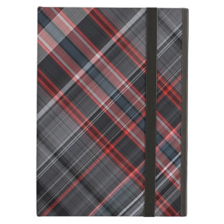 Red, black and white plaid iPad air cases