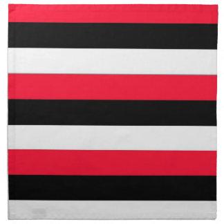 Red, black and white stripe Napkin