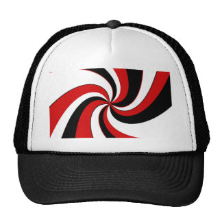 Red, black and white twist cap