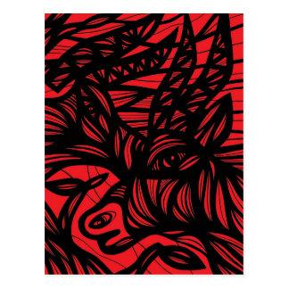Red Black Antelope Animal Wildlife Postcard