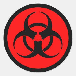 Red & Black Biohazard Symbol Sticker
