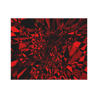 Red & Black Canvas Print