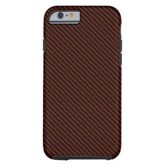 Red & Black Carbon Fiber Base Tough iPhone 6 Case