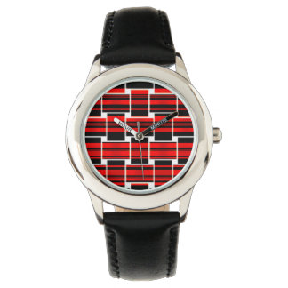 Red Black Checkerboard Trendy Sacramento Watch