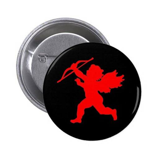 Red & Black Cupid Button