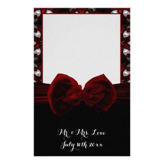 Red & Black Dark Night Gothic Wedding Romance Customized Stationery