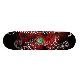 Red Black Dragon Swirls SKate deck