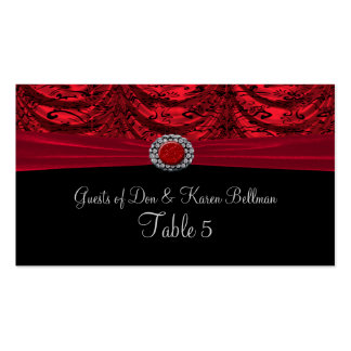 Red & Black Draped Baroque Table Business Card Template