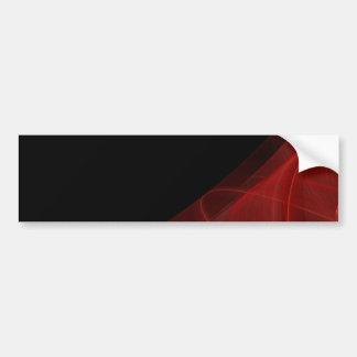Red & Black Fractal Background Bumper Sticker