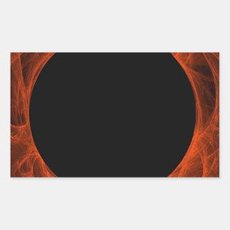 Red & Black Fractal Background Rectangle Sticker