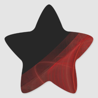 Red & Black Fractal Background Star Sticker