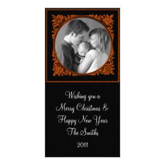 Red & Black Frame Photo Greeting Card