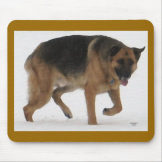 Red & Black German Shepherd - Ranch Dog Lover Mouse Pad