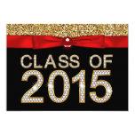 Red Black Gold Glitter Class of 2015 Graduation 13 Cm X 18 Cm Invitation Card